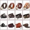 Homens Pin Buckle Moda PU Cinto de couro para vestuário (HJ0185)