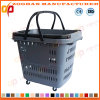 Gute Qualitätsplastiksupermarkt-Einkaufskorb mit Rädern (Zhb172)