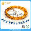 12 tresse optique unimodal de fibre des noyaux LC/Upc