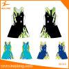 Bodysuit Netball женщин сублимации команды установленный с формами краткостей