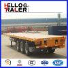 Verkoop van de Aanhangwagens van de As van het Bed van China de Nieuwe Vlakke Tri aan Angola