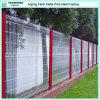 Cerco soldado revestido PVC barato do jardim do engranzamento de fio da garantia de qualidade