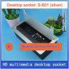 Linha líquida jogos Multifunction do vídeo 2 audio do USB 3.5 do VGA de HDMI da tomada do soquete Desktop dos multimédios com prata da escova S-601