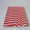 Striped rouge Paper Drinking Straw avec Different Designs pour Party
