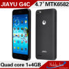 Mtk6582, Cortex A7 Quad Core, téléphone mobile de Dual Standby Jiayu G4c de carte SIM de 1.3GHz Dual