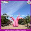 Polvo cor-de-rosa inflável quente para a decoração do festival do evento