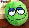 Juguete verde Bosw1087/15cm del gato del perro de juguete del animal doméstico del estilo de la cara de Squeakly de la felpa