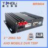 4 kanalen 720p die de Dubbele Opslag 3G Mobiele DVR van de Kaart van BR 512g met GPS Facultatieve WiFi registreren