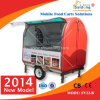 Color rojo Food Trailer/Snack Food Cart con CE