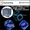 Cube coloré en disco 3D LED de décoration de noce