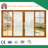 Aluminio ahorro de energía de la doble vidriera que resbala la puerta del panel exterior