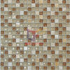 Beige Color de piedra Cristal Mosaico Mix Natural (CS177)