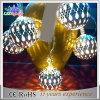 luz da corda do diodo emissor de luz 10m com luz dourada da decoração da esfera