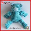 Do rasgo azul do porco de veludo da tira brinquedo resistente do animal de estimação