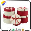 Rectángulo de regalo de empaquetado de papel de encargo con la cinta