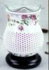 Bruciatore a nafta di ceramica della lampada di fragranza della lampada di olio di stile cinese con la base di legno