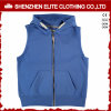 Wholesale Blank Zipper Men Sleeveless Plain Hoodie Suppliers (ELTHSJ - 1040)