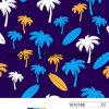 Impressão da palma de coco para a tela do Swimwear 80%Nylon 20%Elastane para o Swimwear