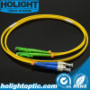 E2000AデュプレックスSmの黄色への光ファイバジャンパー線FC