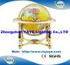 Hete Yaye 18 verkoopt Gele Kleur 330mm/220mm/150mm de Bol van de Halfedelsteen met de Gouden Tribune van het Metaal