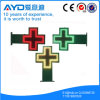 Unterschiedlicher Typ des im Freienled-Apotheke-Kreuzes (P20100100RGBOWTB)