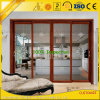 Profil en aluminium pour coulissant portes et fenêtres avec des couleurs bois