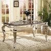 ヨーロッパデザインホームFurinitureの標準的なステンレス鋼のダイニングテーブル