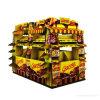Visualización cuarta de cartón corrugado impresa color de oro de la paleta para los chocolates