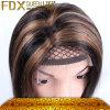 좋은 품질 자연적인 까만 Remy 인도 머리 가발 (FDX-YY-KBL)