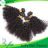 Estensione riccia crespa brasiliana naturale dei capelli umani di Remy del Virgin di a buon mercato 100%