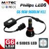 極度の強力な96WフィリップスLEDのヘッドライトH11自動LEDライト
