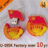 Bastone su ordinazione del USB di marchio del PVC di vendite calde (YT-Abitudine)