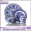 Het blauwe en Witte Vastgestelde Keukengerei van het Diner van het Porselein
