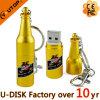 カスタムロゴの金のビール瓶USB Pendrive (YT-1216)