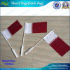 Qatar Hand Flag mit Plastic Handle Pole (T-NF01F03019)