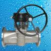 Tipo macio válvula da luva da selagem do aço de molde de plugue da extremidade da flange