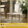 호텔 의자를 식사하는 높이 뒤 하얀 가죽 금속 발