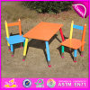 2015 MDF Kids Study Desk Chair em Pencil Design, Portable Folding Table Chair Set, Hot Sale Mesa e cadeira de madeira Wo8g106