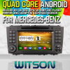 Rk3188 Quad Core HD 1024X600 Screen 16GB Flash 1080P WiFi 3G Front DVR DVB-T 미러 Link Pip (W2-M093)를 가진 벤즈를 위한 Witson S160 Car DVD GPS Player