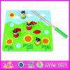 Rana magnetica di legno di pesca del nuovo gioco 2015, migliore gioco di legno classico di pesca della rana del giocattolo 3D del capretto, pesca divertente Wj276034 della rana del gioco 3D
