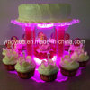 Soporte de acrílico de la luz de la torta de la alta calidad para la venta