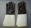 Перчатка заварки мебели кожаный с Trumpet Cuff-4055