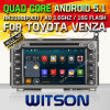 Carro DVD do Android 5.1 de Witson para Toyota Venza com retrato da pia batismal DVR do Internet da ROM WiFi 3G de Rockchip 3188 1080P 16g do núcleo do quadrilátero (W2-F9122T)