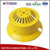 Nuance de lampe en aluminium tournée d'enduit jaune de poudre pour industriel