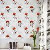 Papel pintado decorativo del PVC 3D de la flor del diseño del papel de empapelar de la pared natural de la sala de estar lavable