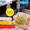 15g 염료 액체 세탁제 없음, OEM&ODM 세탁제 깍지 4X 농도 액체 세제 캡슐 주머니