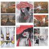 Peinture à la maison de toile de Scenary de rue de toile d'impression de décoration