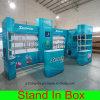 Carrinho modular portátil da exposição da instalação fácil feita sob encomenda para a cabine justa do indicador da feira profissional