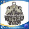 Plein porte-clés 3D avec le fini argenté antique (Ele-K044)