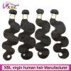 Xblの毛の製造業者のバージンの加工されていないブラジルの人間の毛髪の織り方
